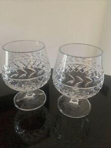 Pair of Crystal Brandy Glasses