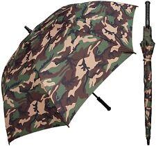 "60"" Arc Camouflage Umbrella - RainStoppers Rain/Sun UV Camo Hunting Camping"