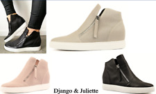 Django & Juliette Shoes Comfort leather Boots with hidden wedge Gisele