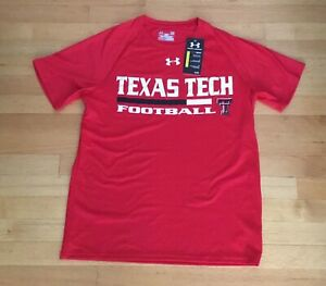 Texas Tech Football Under Armour Loose Heat Gear Jersey T Shirt Men's Size S