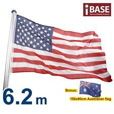6.2 M Flag Pole USA United States America American Australia National Aluminum