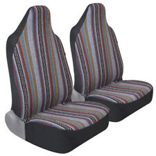 Baja Indian Pattern Front Car Seat Covers for Built-in Headrests