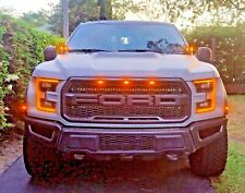 2019 FORD RAPTOR M&R DUAL LED HOOD MOUNT 80w Kit WITH AMBER DRL