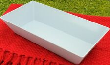 BULK LOT : 4 x LONG MELAMINE SQUARE BOWL : WHITE : 40cm x 20cm : BRAND NEW