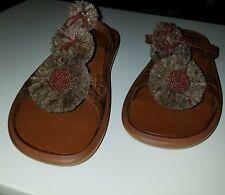 ROBERT CLERGERIE Brown Slip On  Sandals (Zoe) Size 9 1/2 B 386719