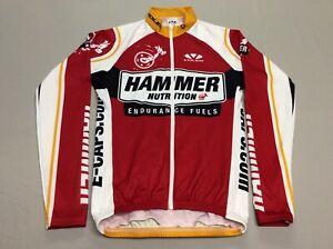 HAMMER NUTRITION VOLER FULL ZIPPER LONG SLEEVED RACE RAGLAN CYCLING MENS SMALL