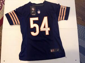 NWT Brian Urlacher #54 Chicago Bears Sewn Nike On Field Women's Football SZ S