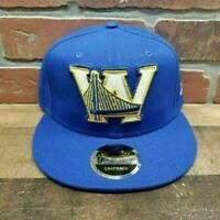 New Era 9FIFTY NBA Golden State Warriors High Crow Men's Blue Snapback Cap