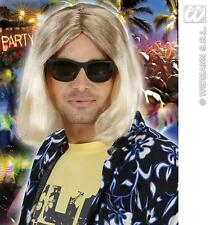 Male Long Blonde Wig Two Tone Surfer Hippy Grunger Pimp Fancy Dress