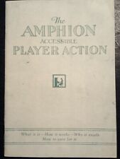 Amphion Accessible Player Piano Action Service Manual - Reprint