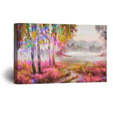 Wall26 - Abstract Oilpainting Style Colorful Forest Gallery - CVS - 12x18 inches