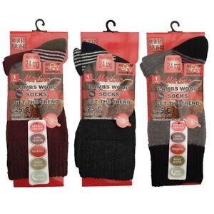 3 Pack Mens Wool Blend Socks Mens Multibuy 3x Merino Wool Socks Winter Warm