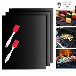 Tappetini Barbecue Set,BBQ Grill Mat Set Tappetini da Cucina per Cottura su Gas,