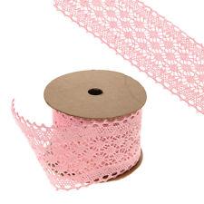 Galon ruban rose largeur 6cm sur un 5m roll