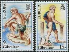 Gibraltar 1981 SG 444-445 mi 416-7 estampillada sin montar o nunca montada Europa Folklore Hercules