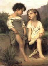 ZWPT873 Lovely little Sisters and Brothers paint hand oil painting art Canvas
