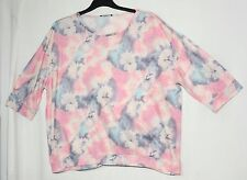 PINK BLUE FLORAL LADIES CASUAL TOP BLOUSE SIZE 20/48 GEORGE