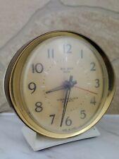 Vintage Mid Century White Westclox Big Ben Dialite Electric Alarm Clock