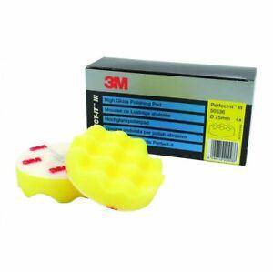 "3M Perfect-it III Polishing Pad Yellow 50536 3"" 75mm Pack of 4 Pads"