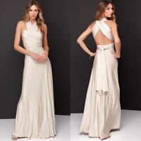 Convertible Multi Way Womens Bridesmaid Full Wrap Cocktail Party Maxi Long Dress