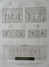 KOUM OMBOU . (PMBOS). (pl. 45, A. vol. I). Bas reliefs du..  DESCRIPTION EGYPTE