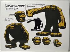 HERCULOIDS MODEL SHEET PRINT - IGOO w Heads Hanna Barbera