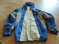 AMERICAN EAGLE OUTFITTERS AE77 PERFORMANCE JACKET BLUE/GRAY LARGE