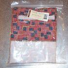 Longaberger Old Glory MEDIUM OVAL WASTE Basket Liner ~ Made in USA ~ New in Bag!