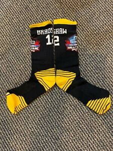 TERRY BRADSHAW PITTSBURGH STEELERS DRI FIT HALL OF FAME SOCKS TOP OF THE LINE