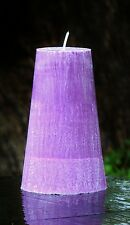 200hr TRUE LILAC Triple Scented Large Pillar CRYSTAL Candle English Garden Style