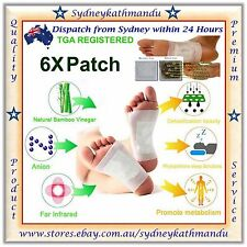 6 X Detox Foot Pads Patch Natural plant Toxin Removal Detoxify Fit Health Care +