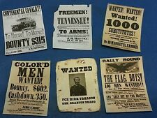 1:6 1/6 scale Civil War era Set of 6 Posters GI Joe Barbie Miniatures BOTW