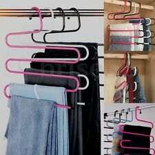 5 Layers Multi-function S -Type Pants Hanger Trousers Holder Scarf Towel Rack