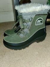 SOREL Insulated Waterproof Winter Snow Boots Women's Sz  9 Green