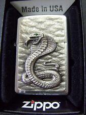 Zippo tormenta encendedor cobra Emblem