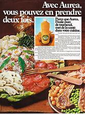 PUBLICITE  1969  AUREA   huile de tournesol