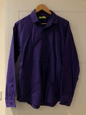 TOPMAN smart PURPLE mens shirt size M highstreet streetwear colour collar