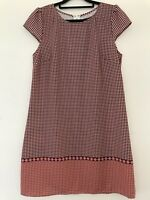 BNWOT Dotti Shift Dress Orange Blue Summer Casual Party Size 10