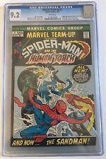 Marvel Team-Up #1 CGC 9.2 1972 Spider-Man! Human Torch! White! G12 128 cm clean