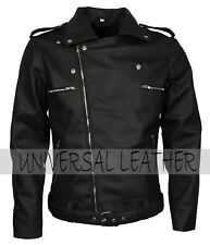 The walking Dead Negan Men's Black Faux Motorcycle Leather Jacket Costume