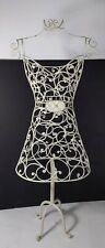Shabby Chic White Metal Wire Frame Dress Form - Girls Boutique Store Display