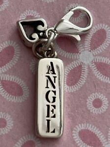 Brighton ANGEL Rectangle HEART Religious Heaven Sayings Silver ABC Charm