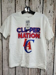 LZ Adidas Youth Medium 10/12 LA Clippers Short Sleeve Tee T-Shirt TShirt NEW