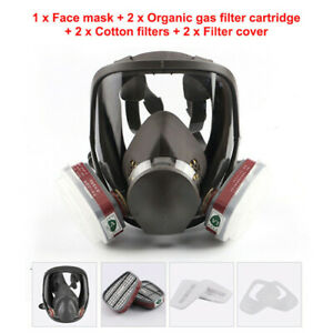 For 6800 Facepiece 7 in 1 Gas Mask Full Face Respirator Spray Painting Vapour