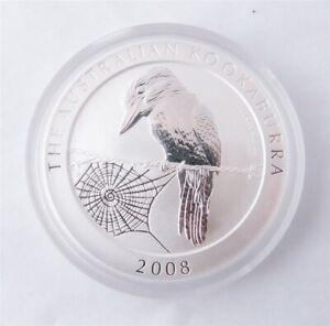 2008 Australia Kookaburra 1oz .999 Silver Dollar (g)