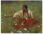 Beauty in the Field - by Howard Terpning -  giclee on canvas