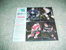 1995 Fleer Metal NHL Hockey Promo Card Sheet Jeremy Roenick Theoren Fleury