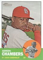 2012 Topps Heritage Baseball #458 Adron Chambers SP St. Louis Cardinals