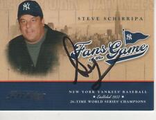STEVE SCHIRRIPA SIGNED 2004 DONRUSS FANS OF THE GAME#219FG-4 - SOPRANOS