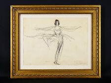 DUNOYER DE SEGONZAC(1884-1974)Georges Aubert RARE eau forte 4/5 ex.Ballet DANCE